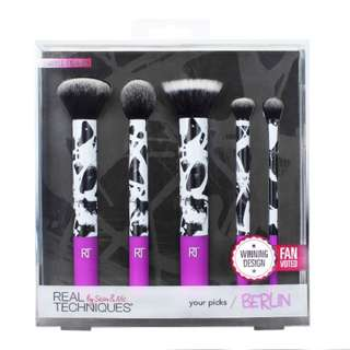 AUTHENTIC real techniques limited edition Your Picks Berlin 5 brushes set for face and eye