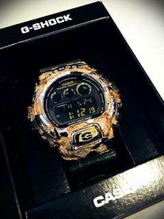Casio G Shock DW-6900CR 特別版 (銀 + 粉紅金)