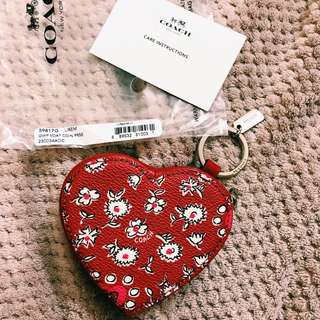 AUTHENTIC COACH HEART SHAPED COIN PURSE