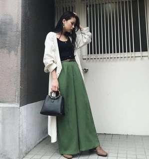 🚚 正品Moussy實品圖 新款 長版外套 罩衫 米色 F