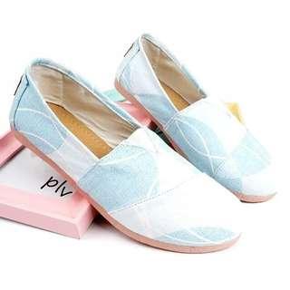 Sepatu Flat Shoes Slip On Kanvas NS55 Bubble