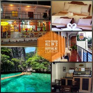 4d3n CORON ALL IN PACKAGE WITH 2 DAYS TOURS LUNCH INCLUDED
