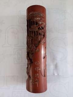 清代  王雲香筒 19.5cmx5cm
