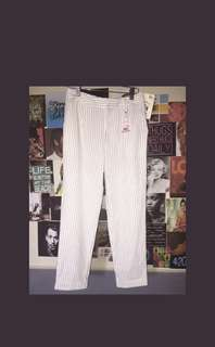 Stripes pants in white