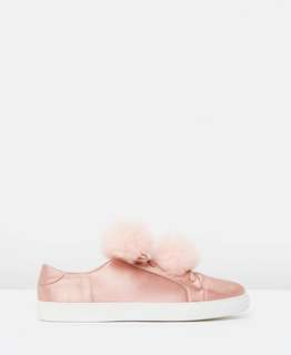 Spurr Pom Pom Sneakers SATIN
