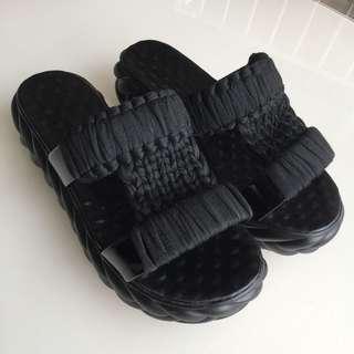 🚚 厚底編織涼鞋36號
