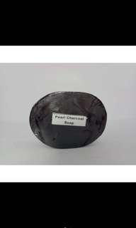 Pearl charcoal soap