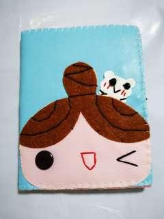 Handmade cute little girl card holder