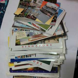 100 Pieces Singapore Postally Used Post Cards