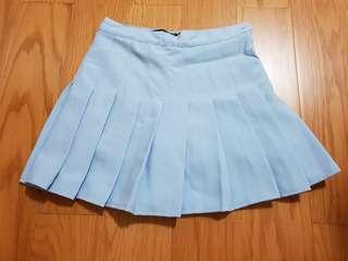 🚚 水藍色百褶裙
