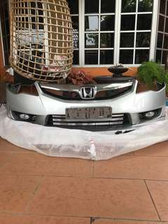 civic fd fd1 fd2 bumper facelift