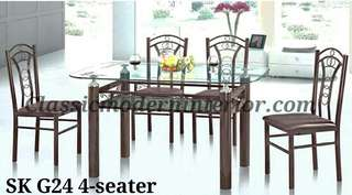 Brand new Dining set 4-seater SKG 24