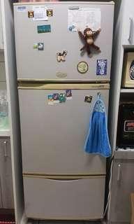 3 door refrigerator
