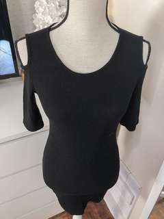 Authentic Mango bodycon dress • little black dress • almost new