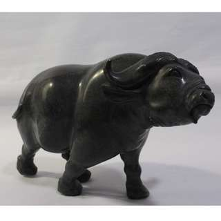 Stone carving/sculpture/antique from Zimbabwe, South Africa known as Shona art style. Buffalo