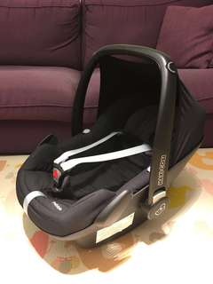 可議價 MAXI-COSI Pebble 頂級旗艦 嬰兒提籃汽車安全座椅 黑色
