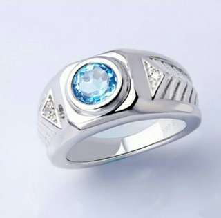 Cincin 925 Sterling Silver Light Blue