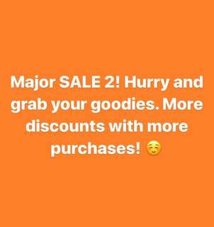 Major sale! All items reduced!