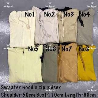 Readystock Unisex Sweater Hoodie Zip