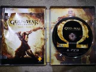 Ps3 games God ofWar Ascension metal cased