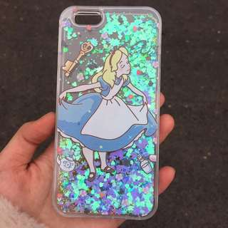 iPhone 7/8+plus Case Alice 閃粉