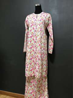 Cotton Kurung with Crystals
