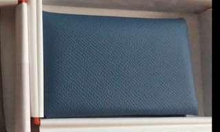 Hermes Calvi card holder - Azur color