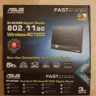 Asus brand router 802.11ac compaible fast and like new condition