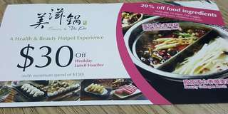 $30 off voucher for Beauty Hotpot