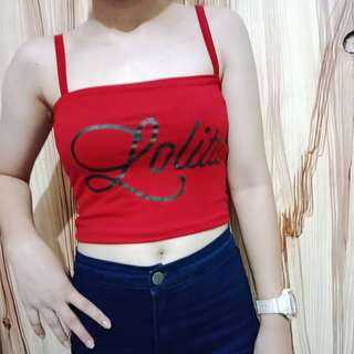 Lolita Red Tube Top