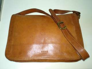 (Price reduced!) Authentic Handmade Italian Real Leather Messenger Sling Bag