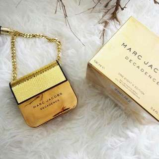 marc jacob decadence one eight k gold with box original 100 ml