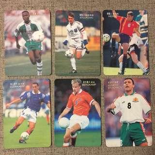 98 世界杯 球星卡 世界盃 World Cup Card Soccer