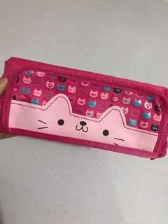 Pencil case cat pink