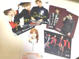 YES! cards wanna one iKON apink 李敏鎬