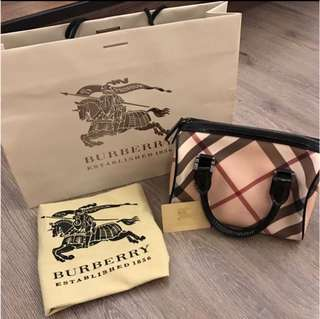 Authentic Burberry Checkered Bag