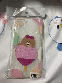 Line Brown iPhone 7/8 Plus Case
