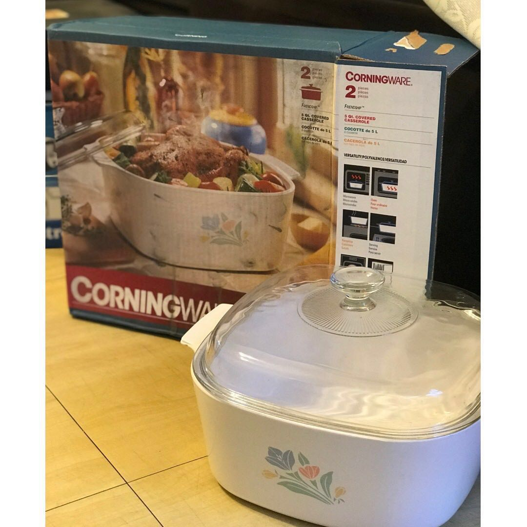 全新 美國康寧 Corningware 5L (日本製)Brand New Made in Japan Corningware ceramic casserole 5L