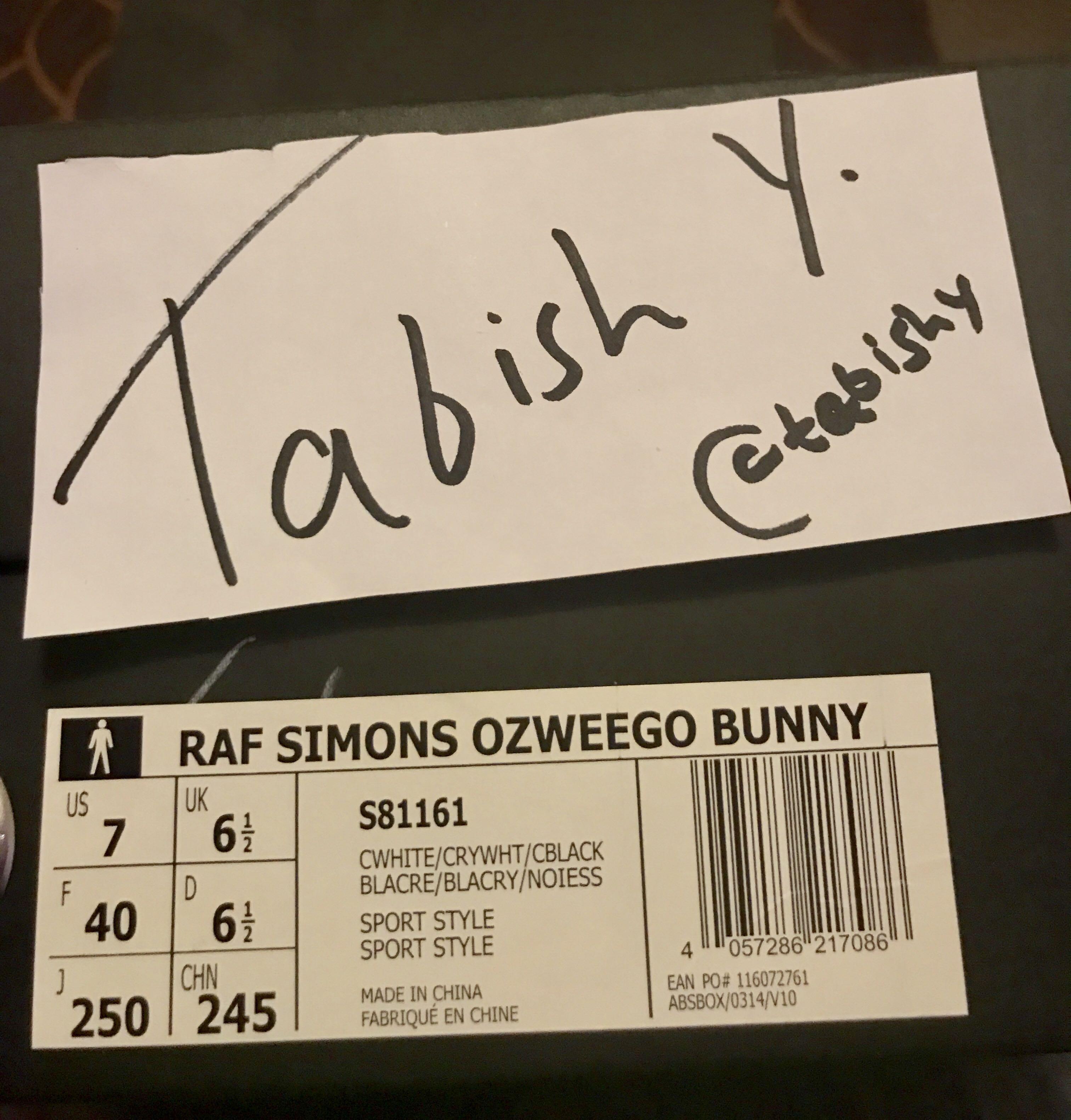 87c208672d7e Adidas x Raf Simons Ozweego Bunny Cream UK 6.5 US 7