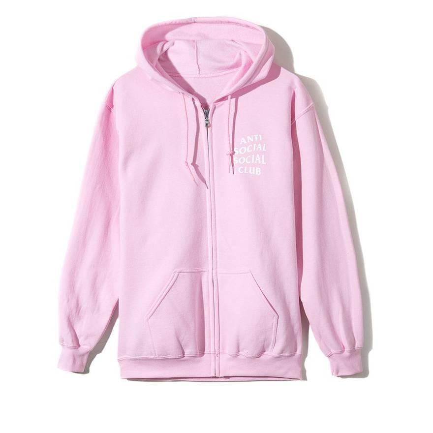 Assc pink zip up hoodie
