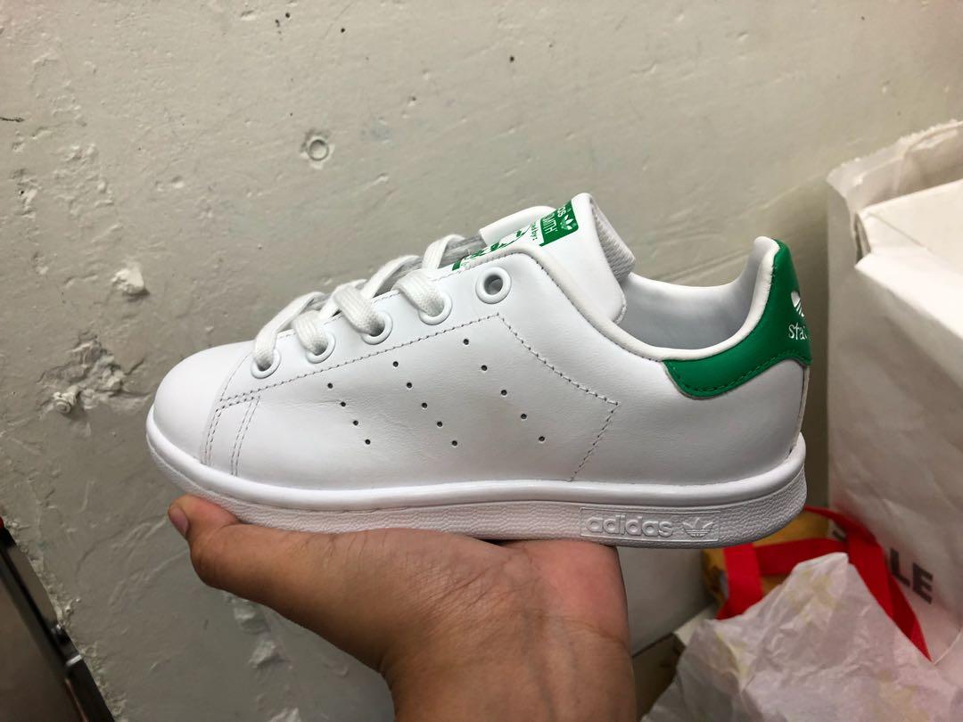 9aaf10d9bac Authentic] Adidas Stan Smith Green Kids, Babies & Kids, Boys ...