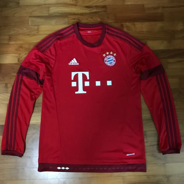 size 40 1176f 7406f Authentic Bayern Munich long sleeve jersey, Furniture, Home ...