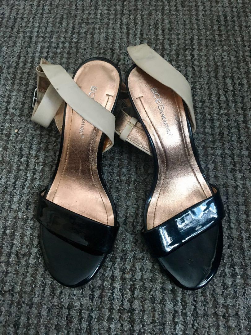 b3da0ad6ea0 Authentic BCBG Block heels ankle strap sandals