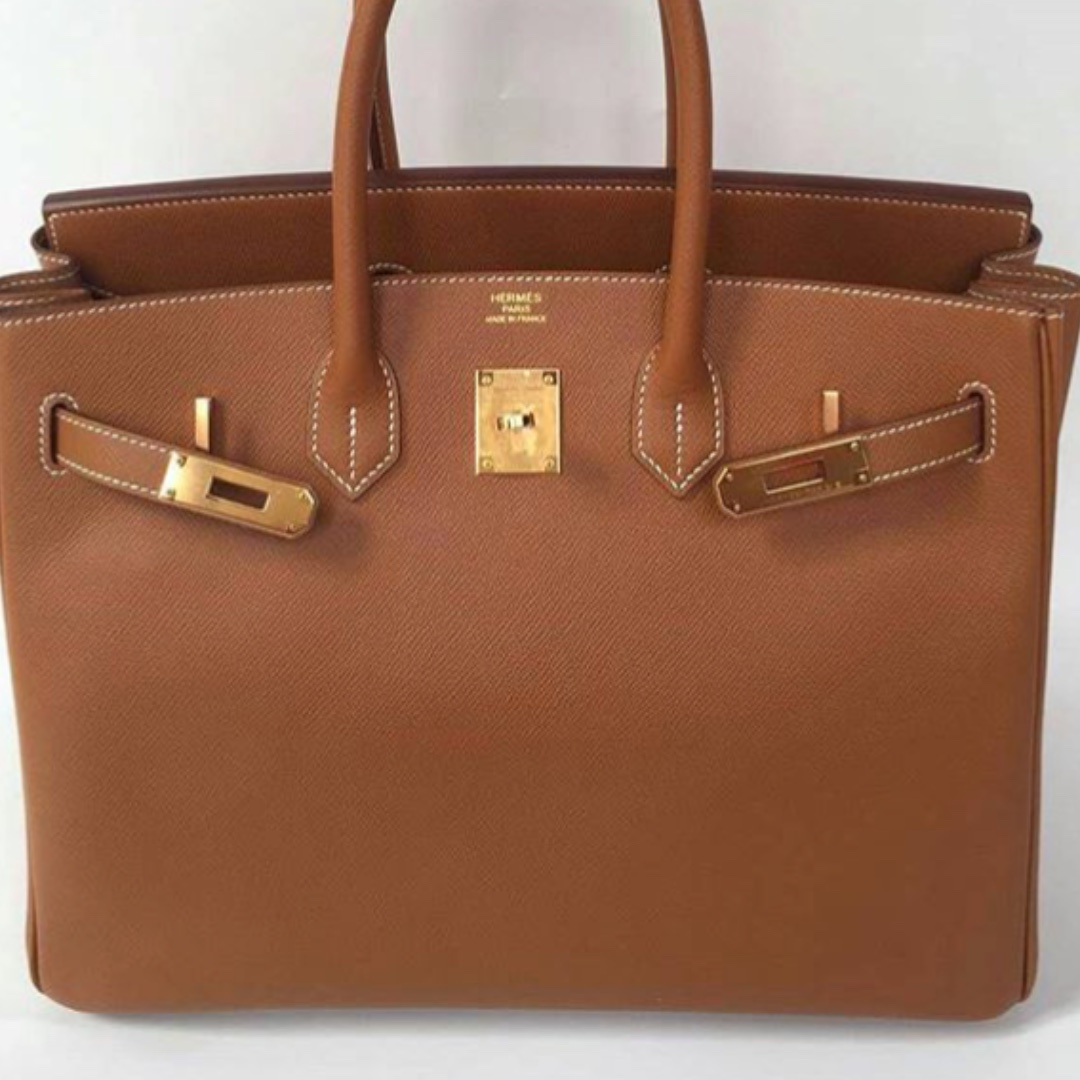 849ef2d4fb8 Authentic Hermes Birkin 35 gold epsom ghw stamp A, Luxury, Bags   Wallets,  Handbags on Carousell