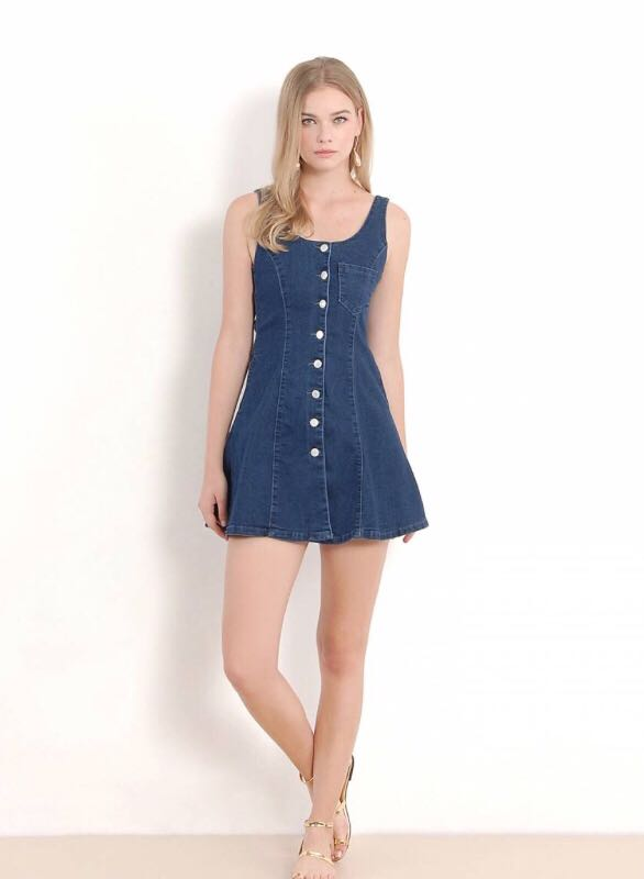 d50b51cffc Bailey Denim Button Down Dress