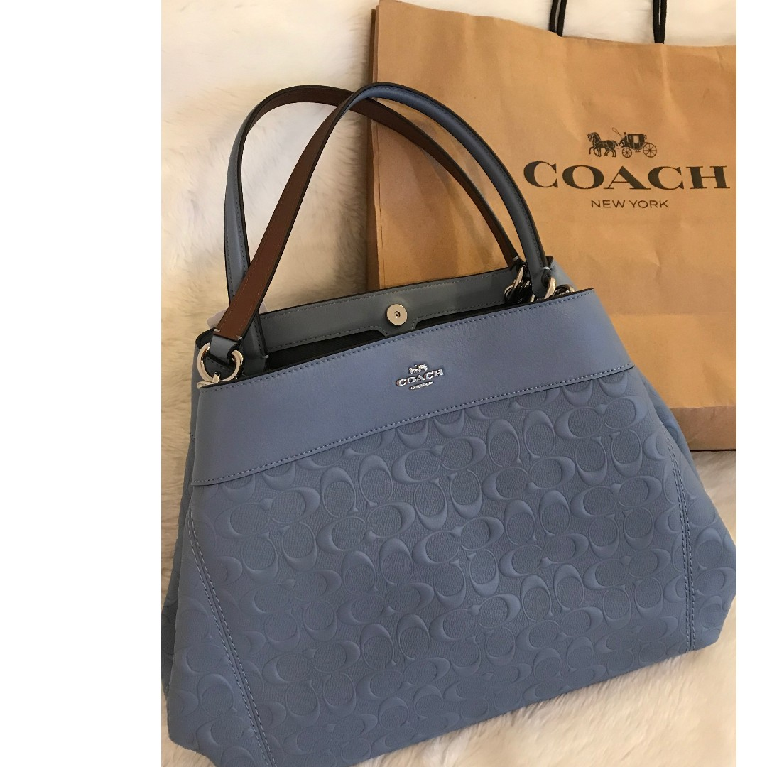 eb30207825 ... coupon for coach shoulder bag bluish pool in signature leather brand  new from us luxury bags