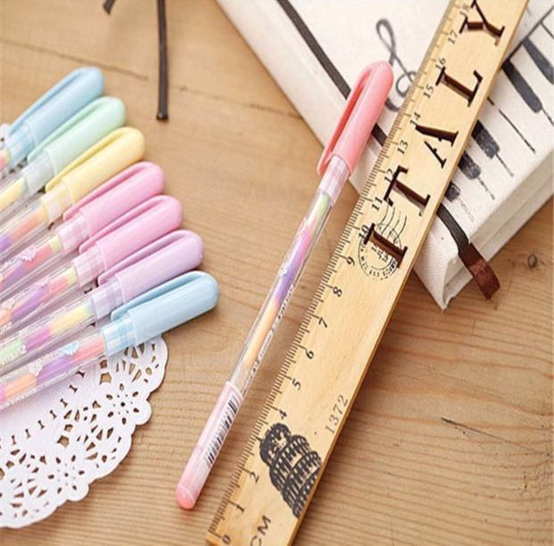 Colourful pens with freebie