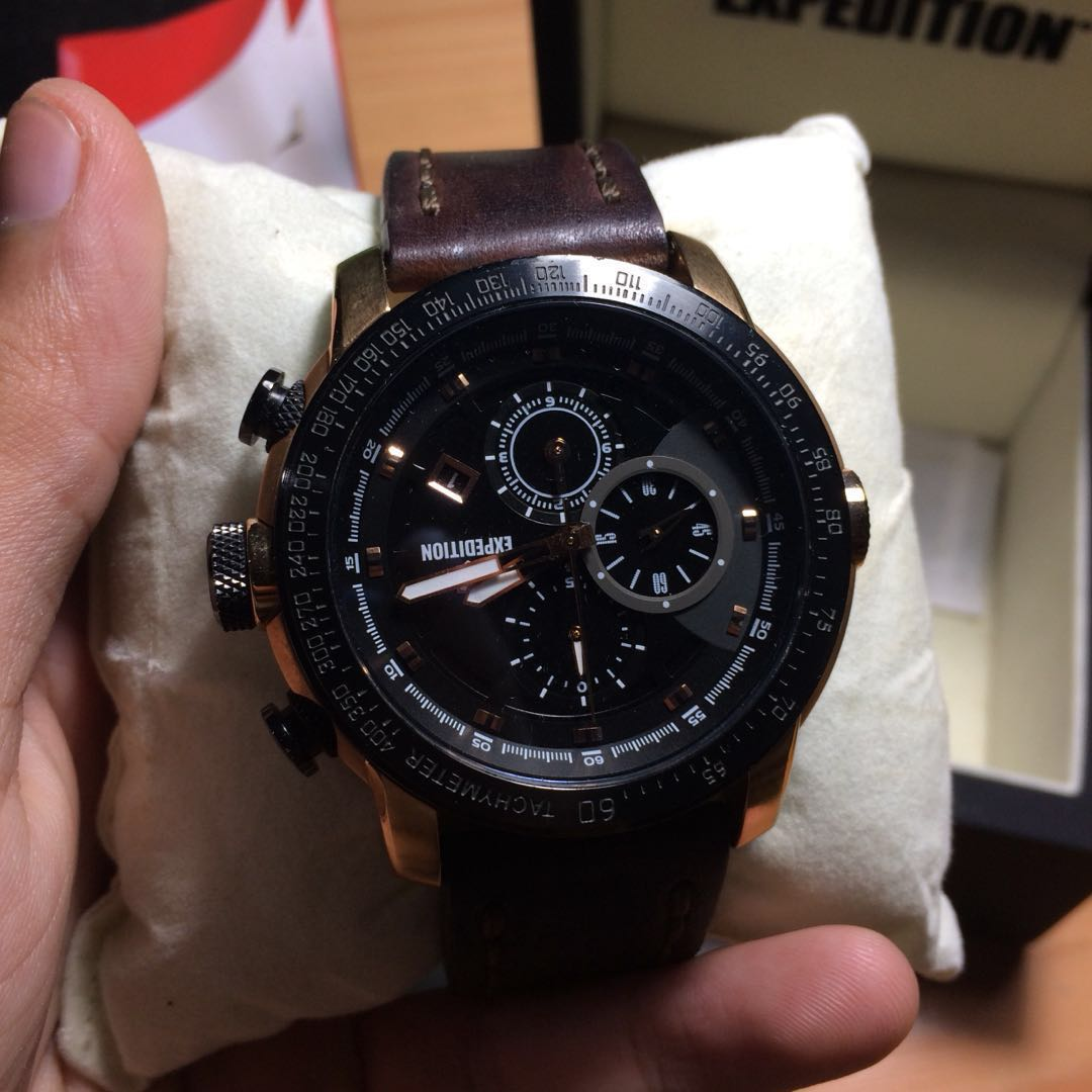 Expedition Watch Mens Fashion Watches On Carousell E6372 Full Black Original