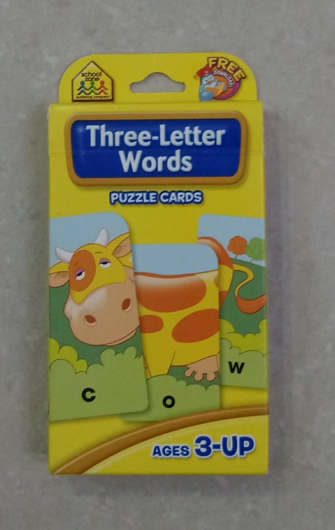 Free Nm Learning Resources Three Letter Words Adjectives