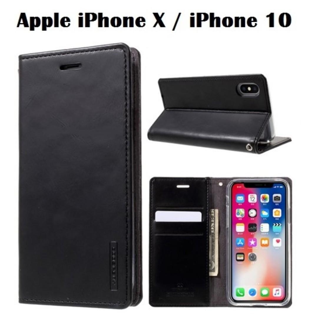 reputable site 7a75c 8a512 Goospery Apple iPhone X Blue Moon Flip Case (Authentic)
